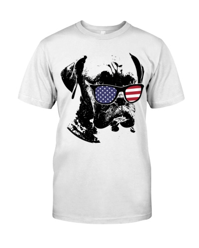 Boxer dog shirts - Boxer US Flag Sunglasses