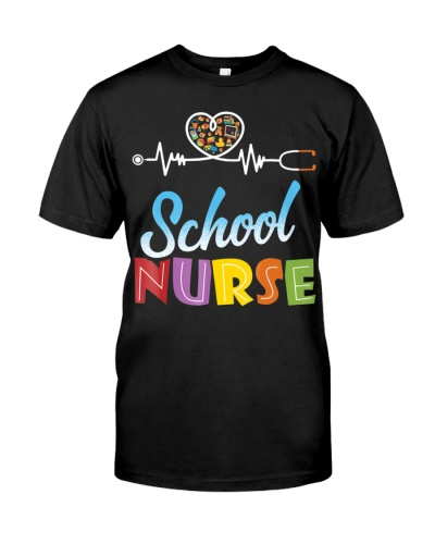 School Nurse Gift Nursing Love T-Shirt