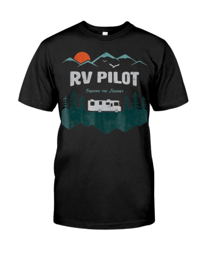 RV Pilot Camping Shirt Motorhome Travel Vacation