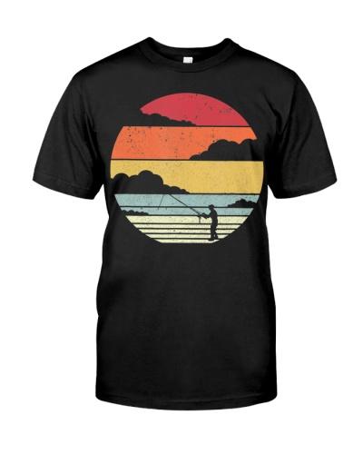Fishing Shirt Retro Style T-Shirt For Fisherman