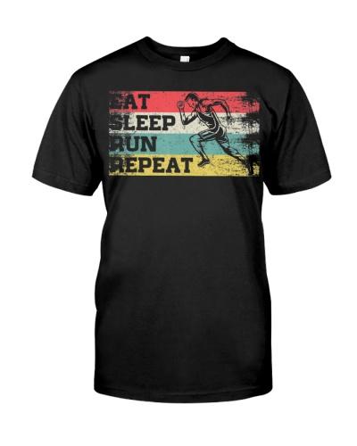 Vintage Retro Eat Sleep Run Repeat Funny Running