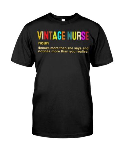 Vintage Nurse - Funny Nurse Definition Nurse