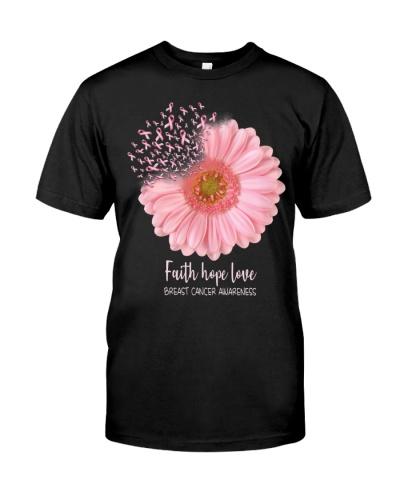 Womens Breast Cancer Awareness Sunflower Hippie