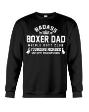 Badass Boxer Dad Wiggle Butt Club Founding Member Crewneck Sweatshirt thumbnail