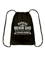 Badass Boxer Dad Wiggle Butt Club Founding Member Drawstring Bag thumbnail