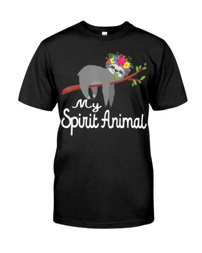 Sloth Shirt Men Women Kids My Spirit Animal
