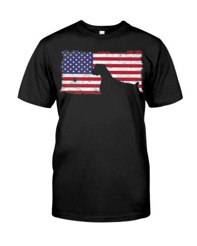 4th Of July Boxer dog American Flag T Shirt