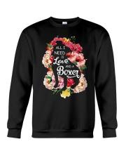 All i need is love and a Boxer  Crewneck Sweatshirt thumbnail