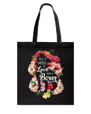 All i need is love and a Boxer  Tote Bag thumbnail