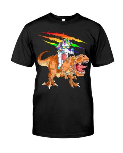 Unicorn Riding T-Rex Dinosaur For Kids Boys Girls