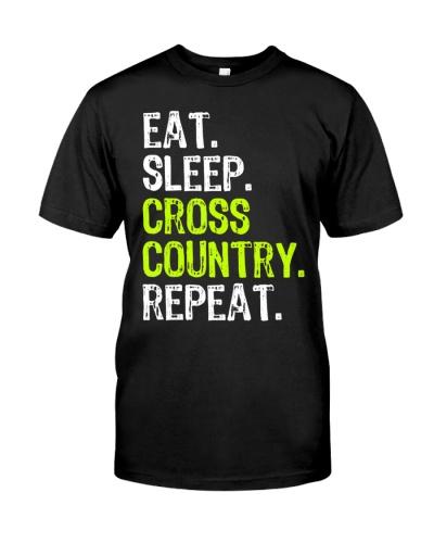 Eat Sleep Cross Country Repeat Running Runner