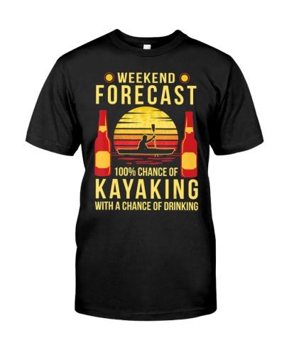 Kayaking Canoeing Kayak Shirt Weekend Forecast
