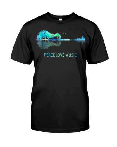Peace Love Music Guitar