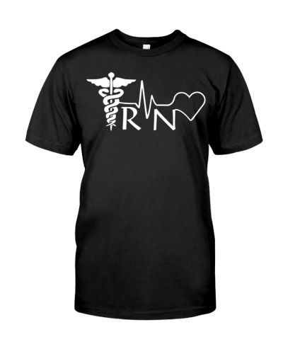 Nurse RN Heartbeat Graduation Womens Gift T-Shirt
