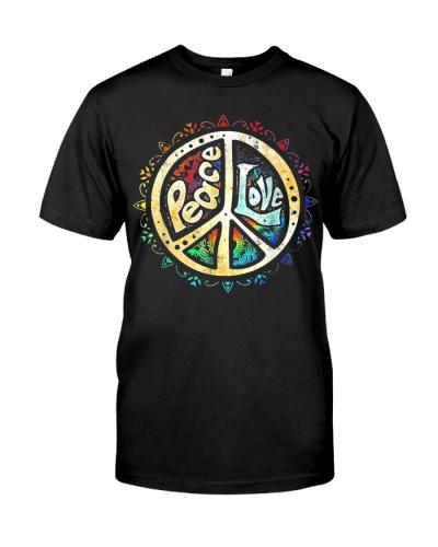 Hippie Peace Love Peace Sign