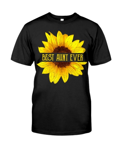 Funny Best Aunt Ever Sunflower Apparel Auntie