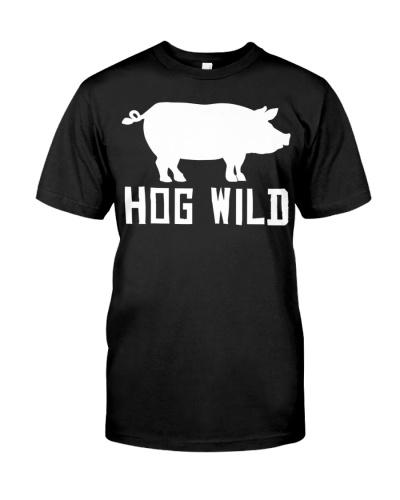 Hog Wild Funny Pig Drawing Farmer T Shirt Gifts