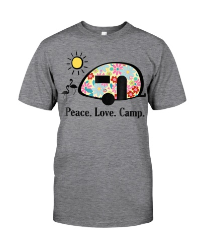 Camping Shirt Peace Love Camp T-Shirt