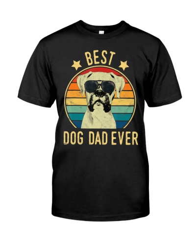 Mens Best Dog Dad Ever Boxer Father's Day T-Shirt