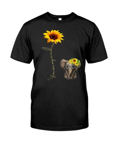 You Are My Sunshine Hippie Sunflower Elephant