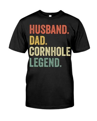 Mens Cornhole Shirt Vintage Funny Gift Husband Dad