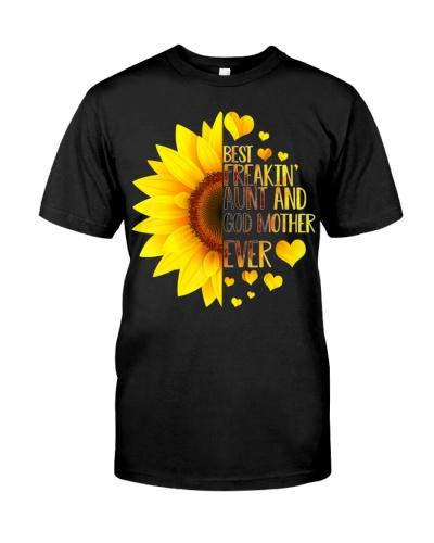 Best Freakin' Aunt Godmother Ever Sunflower