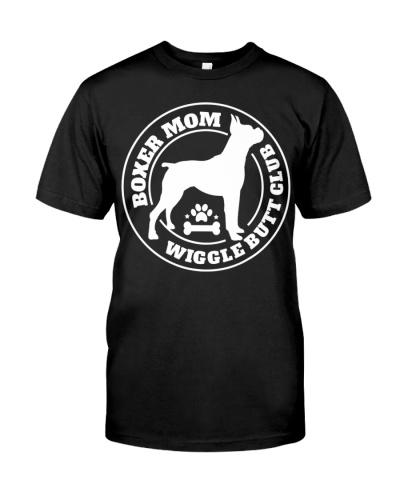 Boxer Mom Wiggle Butt Club Shirt Boxer T-Shirt