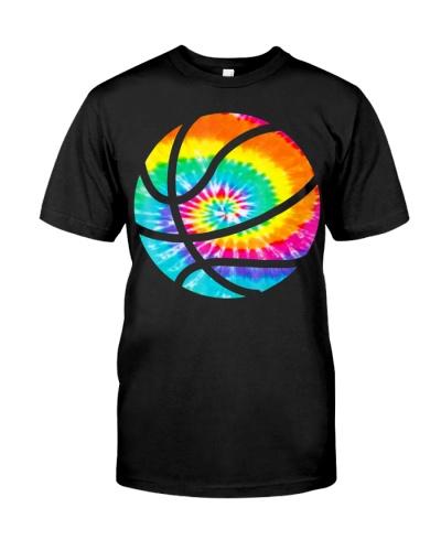 Basketball Tie Dye Shirt - Rainbow Trippy Hippie