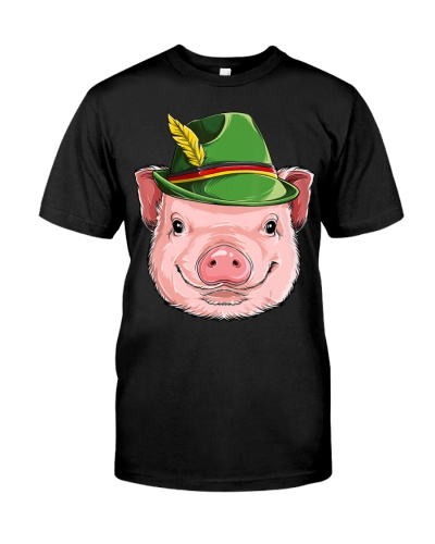 Pig Oktoberfest Clothes Kids Boys Men T-Shirt