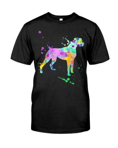 Boxer Dog Breed Paint Splatter Art Pet Lovers