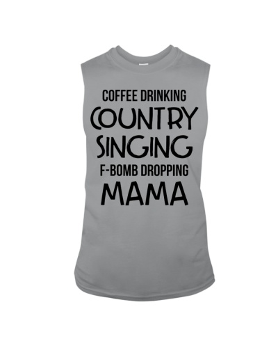 Funny mom shirts - Coffee Drinking Country Singing