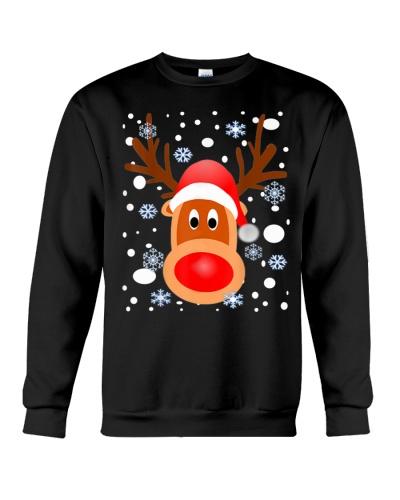 Christmas Reindeer Shirt-Snow-Snowflakes