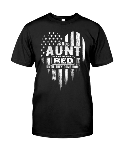Proud Aunt Red Friday Military Family T-Shirt