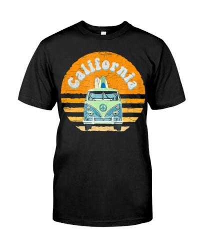 Vintage California Hippie Van Beach Surfer T-Shirt
