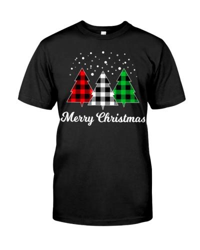 Christmas Santa Tree Xmas Plaid