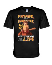Father And Daughter N-H V-Neck T-Shirt thumbnail