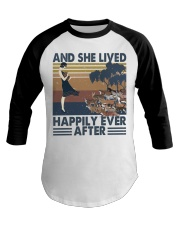 And She Lived Happily Baseball Tee thumbnail