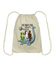 Humans Are Not Real Drawstring Bag thumbnail
