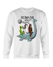 Humans Are Not Real Crewneck Sweatshirt thumbnail