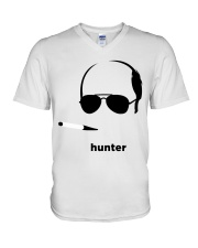 Hunter1 V-Neck T-Shirt thumbnail