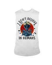 I Dont Believe In Humans Sleeveless Tee thumbnail