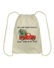 On A Dark Desert Highway Cool Wind In My Hair Drawstring Bag thumbnail