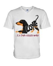 Is A Four Legged Word V-Neck T-Shirt thumbnail