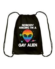 I Am Gay Alien Drawstring Bag thumbnail