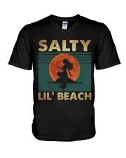 Salty Lil Beach V-Neck T-Shirt thumbnail