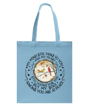 My Mind Talk To You Tote Bag thumbnail