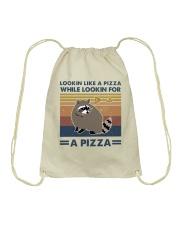 Raccoon Lookin Like A Pizza Drawstring Bag thumbnail