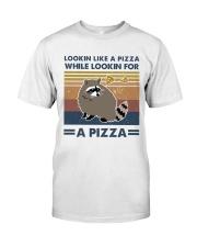 Raccoon Lookin Like A Pizza Classic T-Shirt thumbnail