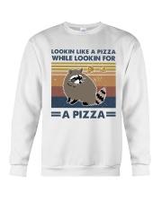 Raccoon Lookin Like A Pizza Crewneck Sweatshirt thumbnail