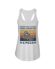 Raccoon Lookin Like A Pizza Ladies Flowy Tank thumbnail